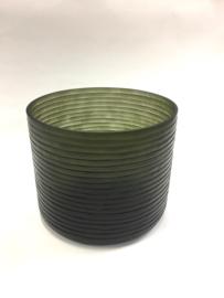 Handgemaakte vaas cut grijs