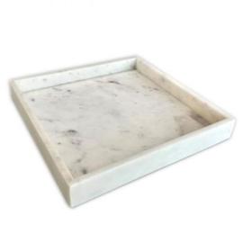 Tray marmer wit 30x30