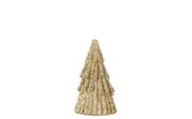 Kerstboompje goud glitter