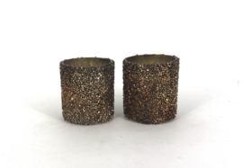 Kaarsenhouder glitter brons