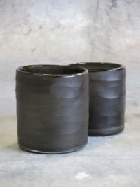 Waxinehouder carved cylinder