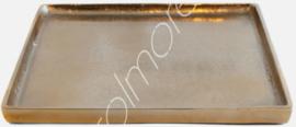 Dienblad goud 40x40 cm