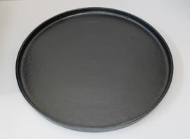 Zwart metalen dienblad rond