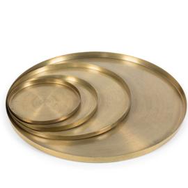 Dienblad mat goud Ø51 cm