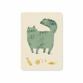 Kaart   Fluffy cat