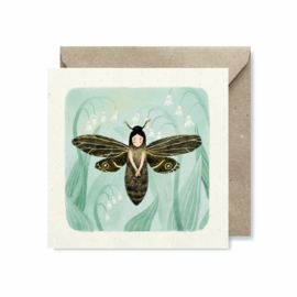 Dubbele kaart vierkant | Moth fairy