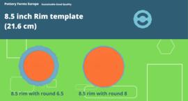 Rim template 8.5 inch (21.6 cm)