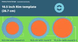 Rim template 10.5 inch (26.7 cm)