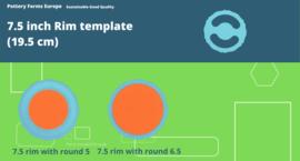 Rim template 7.5 inch (19.5 cm)