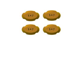 Plaque oval  5 x 7 inch (pack 4 pcs)