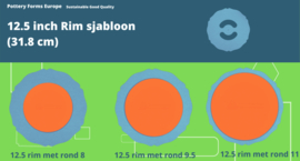 Rim sjabloon 12.5 inch (31.8 cm)