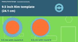 Rim template 9.5 inch ( 24.1 cm)