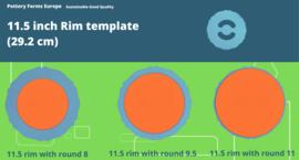 Rim template 11.5 inch (29.2 cm)