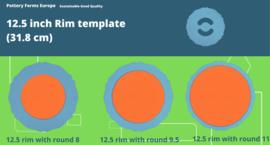 Rim template 12.5 inch (31.8 cm)