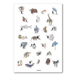 Studio Wilderness dierenposter met alfabet
