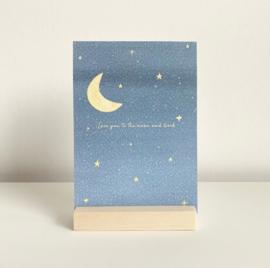 Kaart 'Love you to the moon' | exclusief voor Kees&Beer