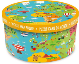 Scratch XXL puzzel wereldkaart