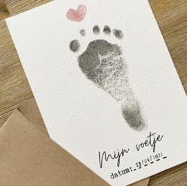 Mijn voetje | Kaartje voor voetafdruk