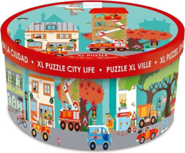 Scratch XL vloerpuzzel stad