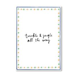 Studio Wilderness dubbele kaart 'Twinkle en jingle' | incl. sluitsticker