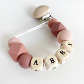 Speenkoord met naam Abby