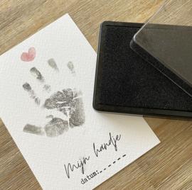 Mijn handje | A5 kaart voor handafdruk | groot formaat