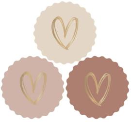 Stickers met gouden hartje | 9 stuks