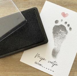 Mijn voetje | A5 kaart voor voetafdruk | groot formaat