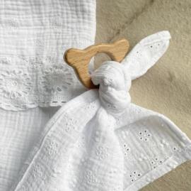 Knuffeldoekje geborduurd | in wit of roze
