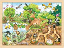 Goki puzzel 'Op ontdekking in de natuur' | 96-delig