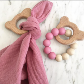 Knuffeldoekje & berenbijtring | diverse kleuren