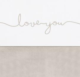 Jollein ledikant laken 'Love you' | diverse kleuren