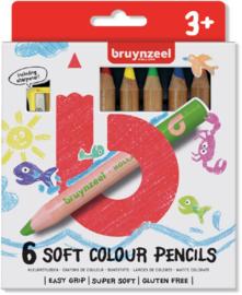 Bruynzeel kleurpotloden extra dik | 6 stuks