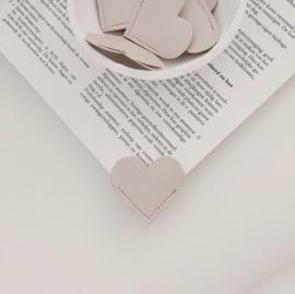 Boekenlegger hartje | in blush of wit