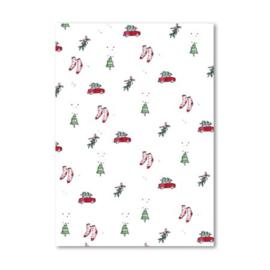 Studio Wilderness dubbele kaart 'Kerst' | incl. sluitsticker