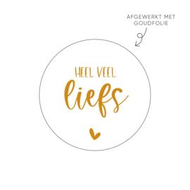Stickers | Veel liefs | Goudfolie
