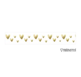 Washi tape | Hartjes  | Goud