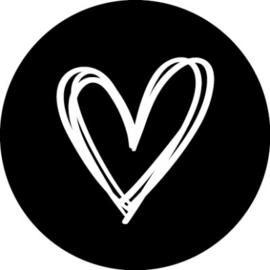 Stickers | Hartje | Zwart