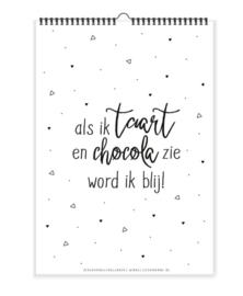 Verjaardagskalender   Taart en chocolade