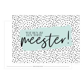 Kaartje 'Meester'