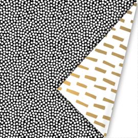 Cadeaupapier 'white dots'