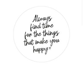 Muurcirkel   Things that make you happy