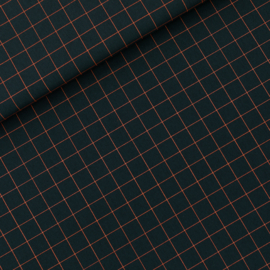Thin Grid Viscose Rayon Forest River