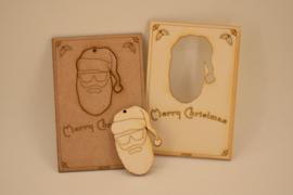 Kerstkaart // Hipster Santa