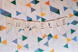 Lettervlaggen - driehoek