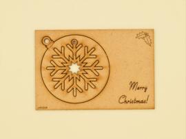 Kerstkaart // Grote Kerstbal