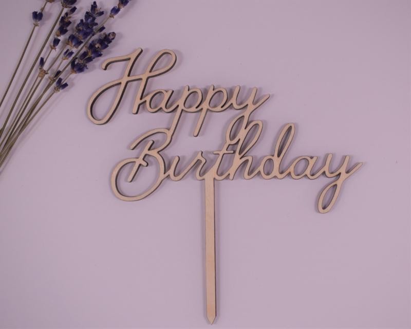 Caketopper - Happy Birthday