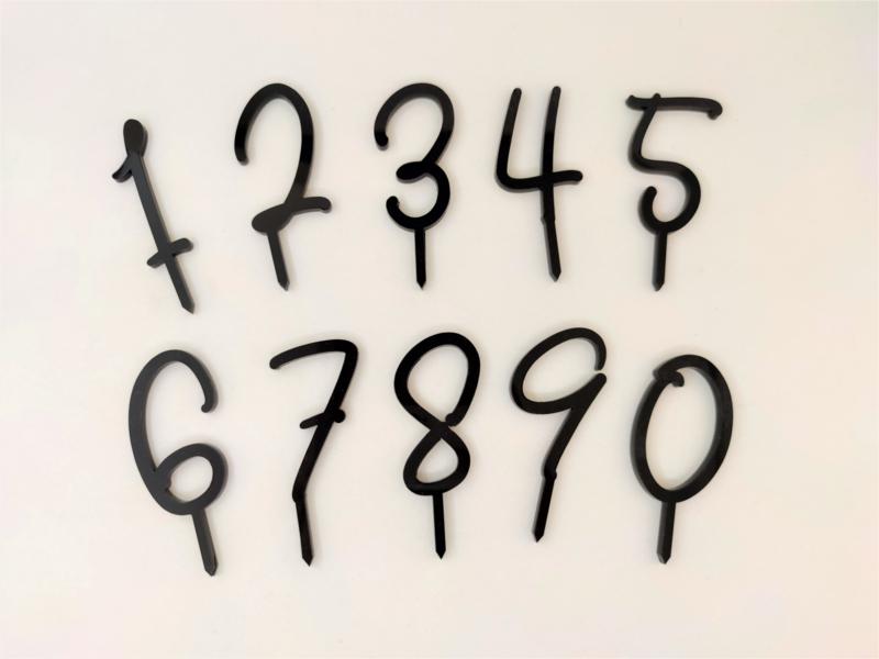 Taartprikkers cijfers van plexiglas