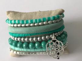 Armband Turquoise met Zilver