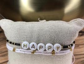 Enkelbandje 'Happy'